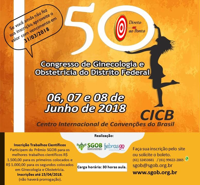 50º Congresso de Ginecologia e Obstetrícia do Distrito Federal